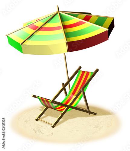 Disegno Ombrellone E Sdraio.Sdraio E Ombrellone Beach And Sea Holidays 3d Stock Photo And