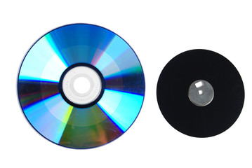 DVD and floppy disk