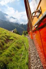 Fototapete - Alps mountain travel