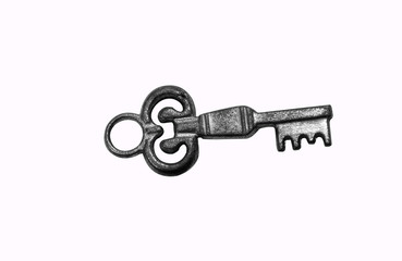 Skeleton Key on White. Clipping Path Included.