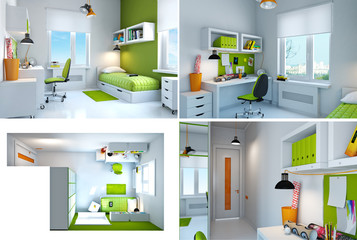 Interior of teenager. Look other views in my protfolio. .
