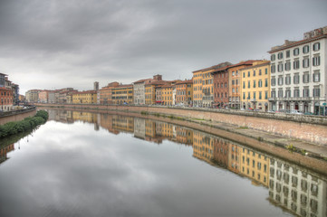 Italy in HDR - Pisa and Arno river
