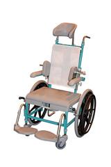 A Metal Framed Basic Design Manual Wheelchair.
