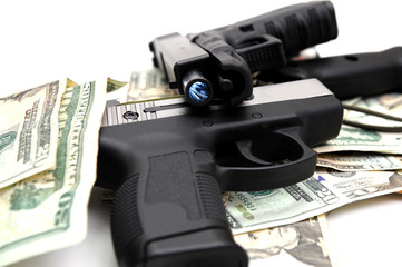 Handguns And Cash