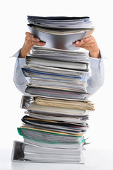 Put paper into high pile paperwork