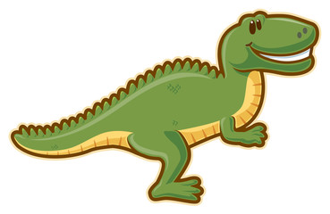 T-rex. Vector without gradients