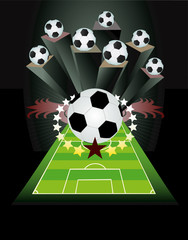 Abstract soccer background. Vector illustration.