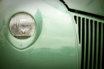 Wall Mural - retro auto light and grille abstract