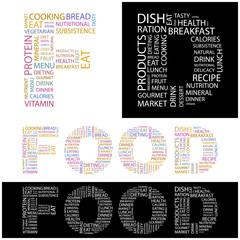 FOOD. Wordcloud vector illustration.