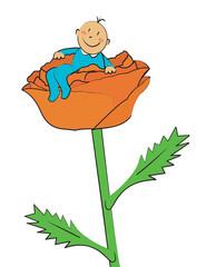 bébé garçon fleur