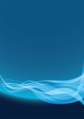 Abstract background blue line