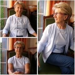 illustration femme à la retraite