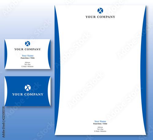 Charte Graphique Assurances Et Affaires Papier Carte Visite