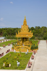 Buddhistic temple on town of Kampot, Cambodia.