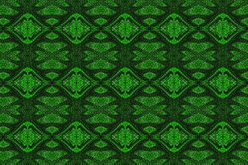 Spoed Foto op Canvas Klassieke abstractie astratto con motivo verde