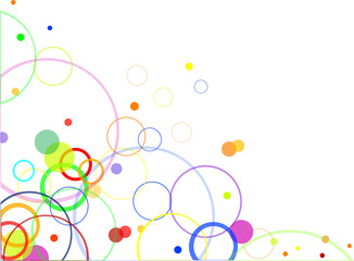 abstract design with color circles