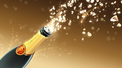 Champagner Glückwunschkarte