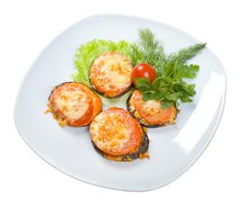 roasted tomato and eggplant