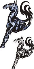 Mechanic horse - series Tribals and Robots.