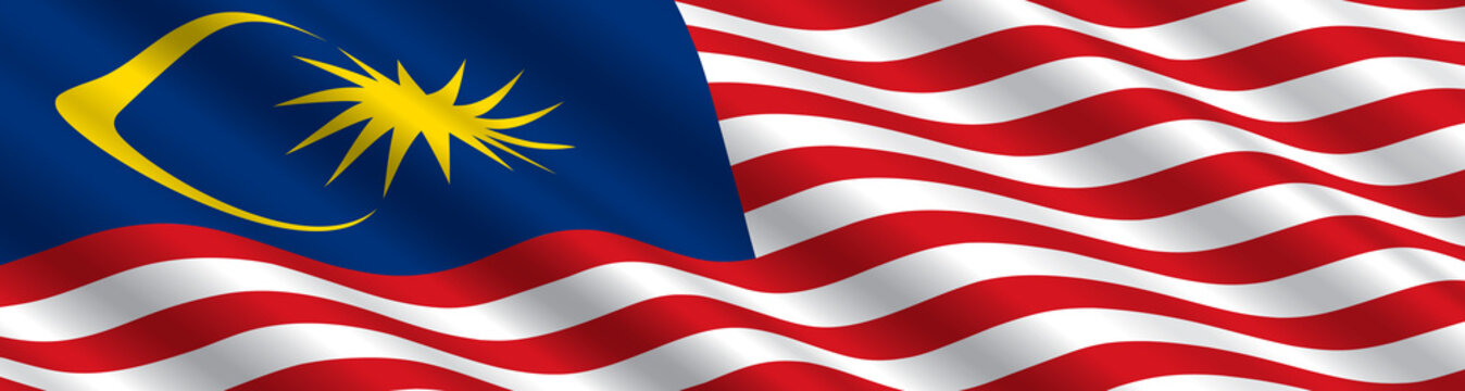 Malaysian Flag in the Wind
