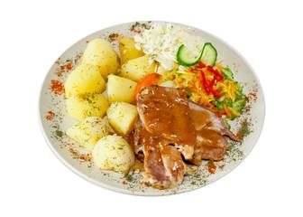 Danie obiadowe - kurczak miodowo-musztardowy