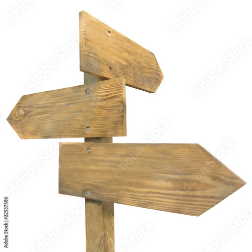 """""""panneaux en bois de direction"""" photo libre de droits sur la banque d'images Fotolia com Image  # Panneau De Direction En Bois"""