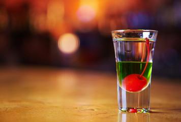 Multi-coloured cocktail