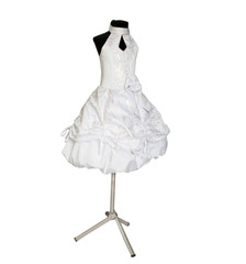 children's dress on a dummy on a white background