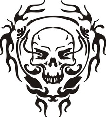 Cyber Skull - vector illustration.