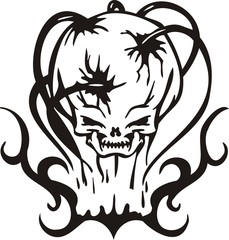 Cyber Skull - vector illustration.