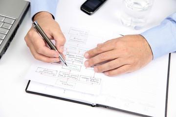 Men preparing Plan of Company Strategy
