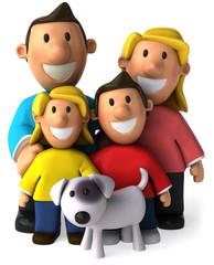Famille et chien