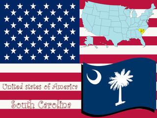 south carolina state illustration