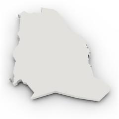 Landkarte Saudi Arabien, einfach