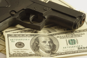 money and gun