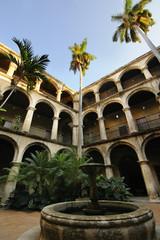 Cuban court yard and fountain in Old Havana