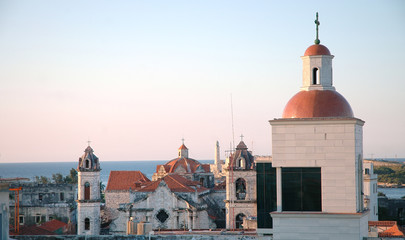 Old Havana skylight at sunset