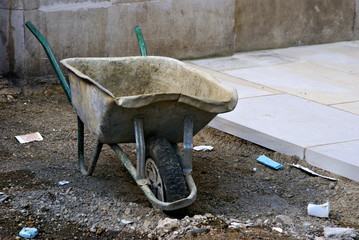 Lonely wheelbarrow