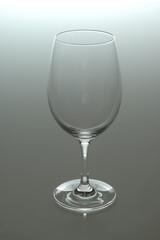 Copa de cristal vacía