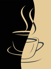 Coffee cup - vector image