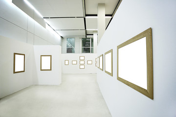 Nobody in the museum interior