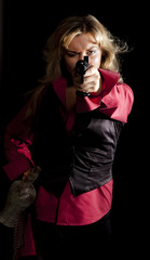 girl  with a gun