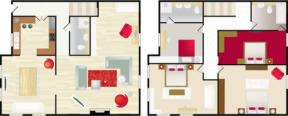 typical floorplan of s house