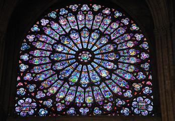 rosace de vitraux