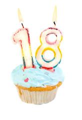 Eighteenth birthday cupcake