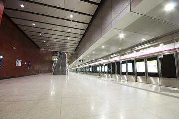 large train station lobby in hong kong.