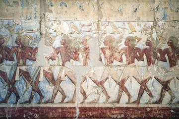 Wandbild im Hatschepsut Tempel
