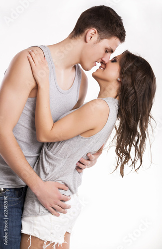 lovely couple kissing stock photo and royalty free images on