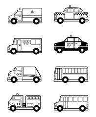 Child Toy Vehicles outline
