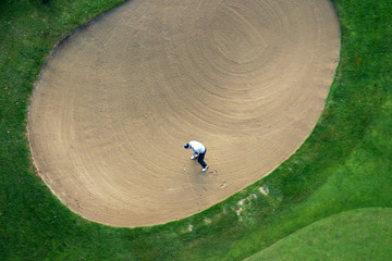 Golfer from above